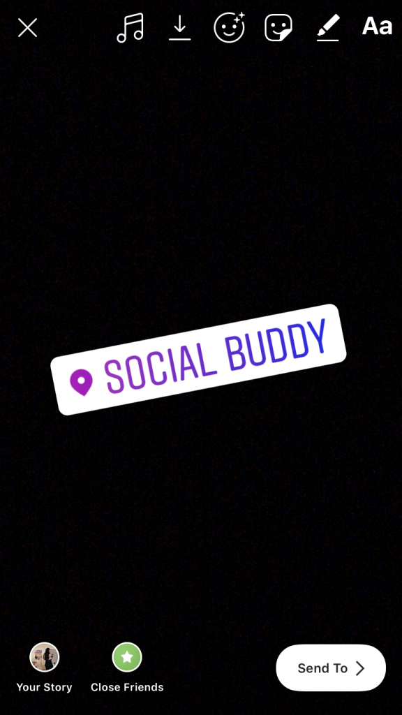 instagram story location