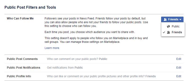 facebook public posts