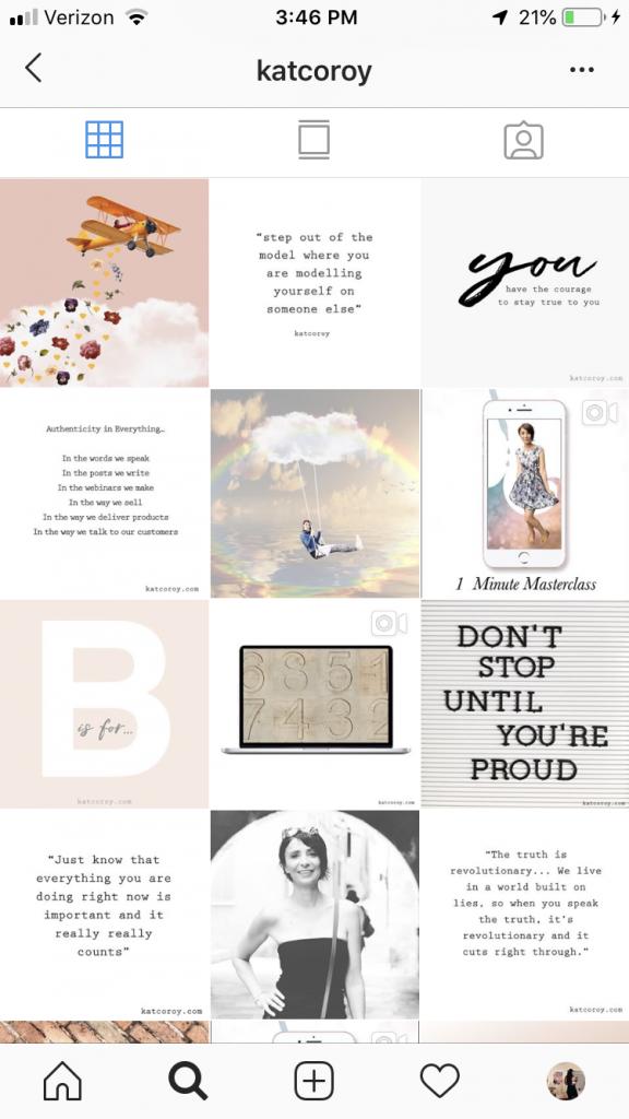 create cohesive aesthetic instagram