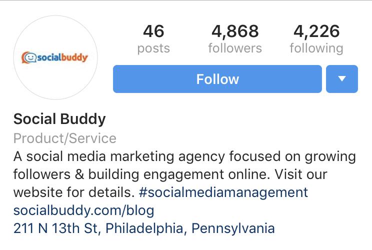 add hashtag to instagram bio