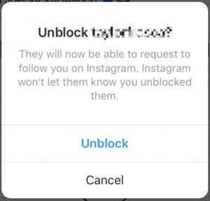 unblock instagram followers