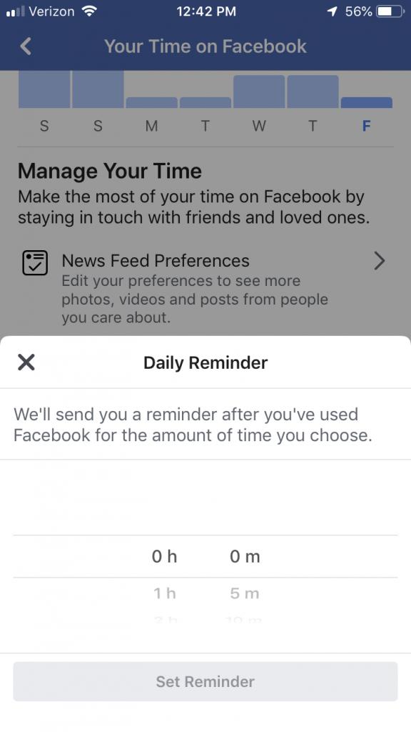 average time on facebook